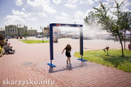 Kurtyny wodne miejskich wodociągów ratunkiem na letnie upały